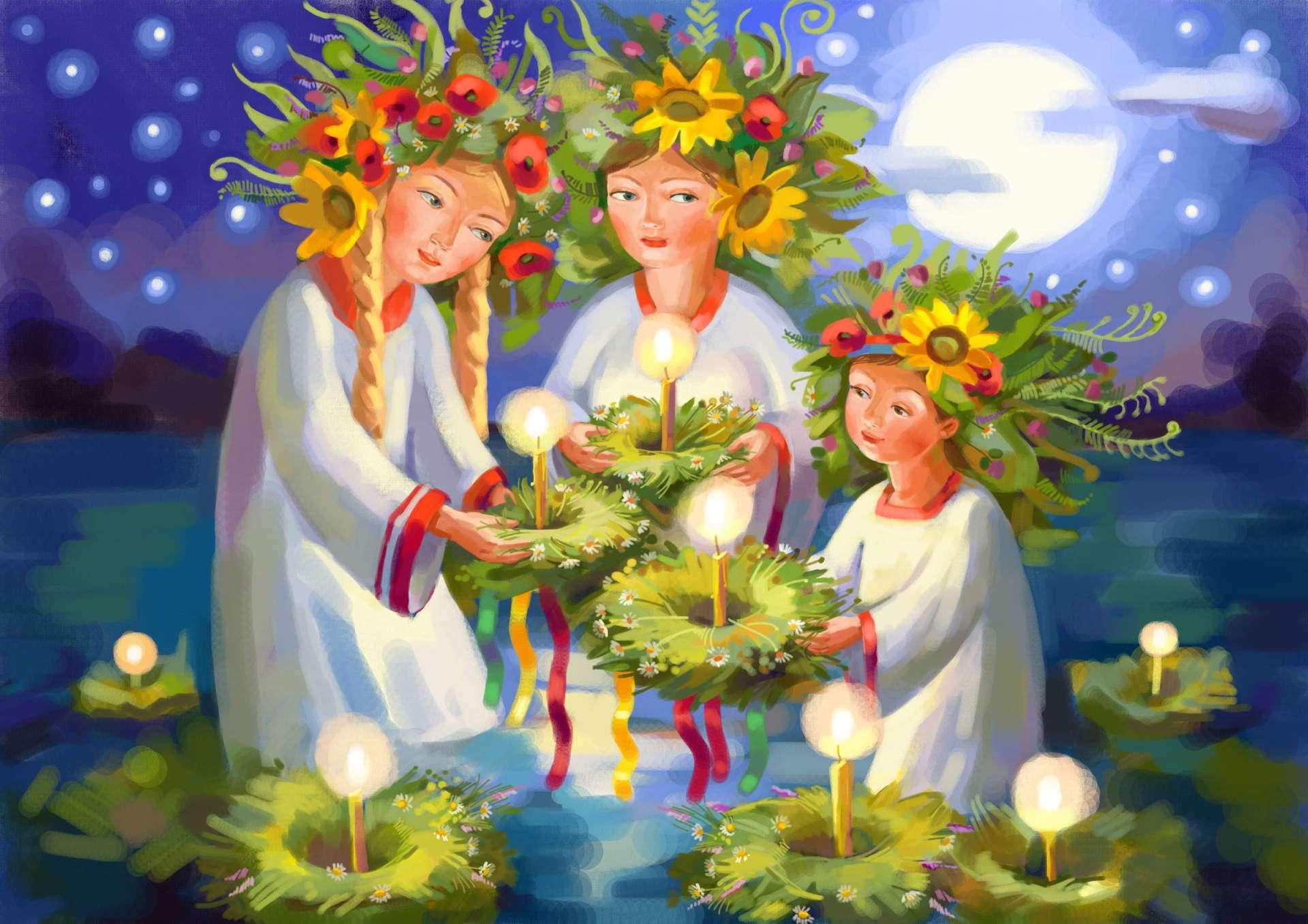 Постер яркие цветы организм