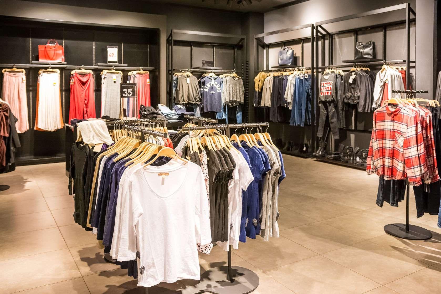 Back rack clothing store