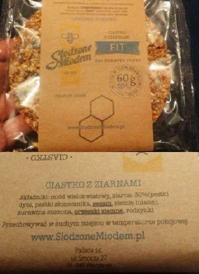 Ciastko z ziarnami FIT - Słodzone Miodem