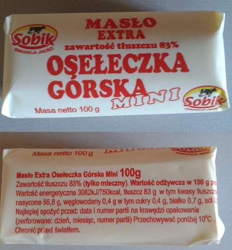 Masło Extra osełeczka górska Sobik