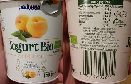 Jogurt Bio morelowy Bakoma