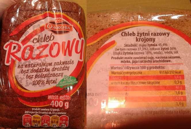 Chleb żytni razowy Oskroba