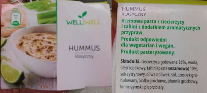 Hummus klasyczny WELL WELL