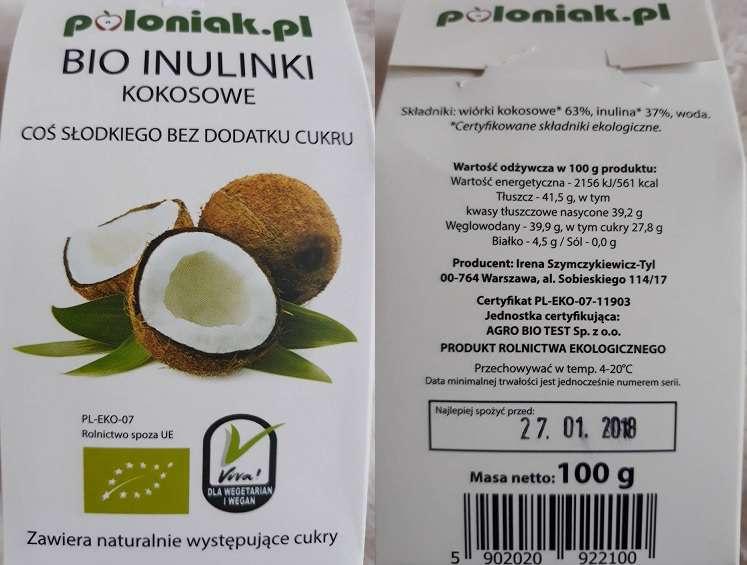 Inulinki kokosowe Poloniak