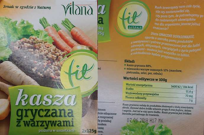 Kasza gryczana z warzywami VITANA