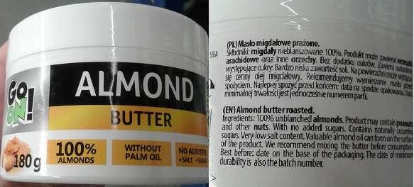 Masło migdałowe GO ON!