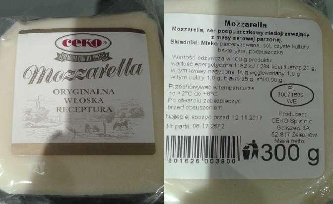 Mozzarella Ceko