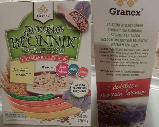 Pałeczki wielozbożowe z siemieniem GRANEX