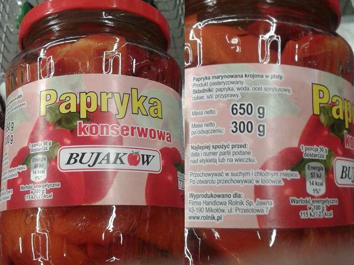 Papryka konserwowa Bujaków
