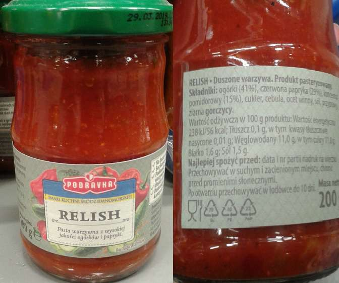 Relish pasta warzywna Podravka