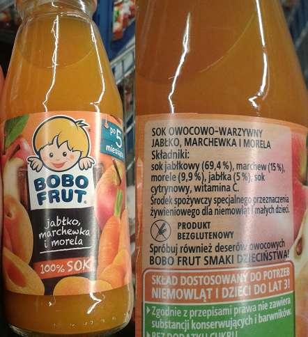 Sok owocowo-warzywny BOBO FRUT