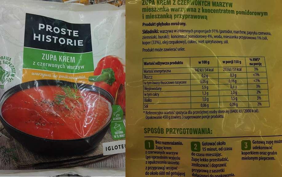 Zupa krem z czerwonych warzyw IGLOTEX