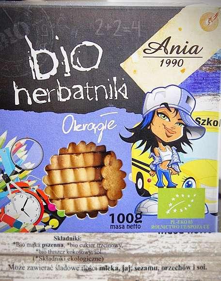 Herbatniki okrągłe BIO Ania