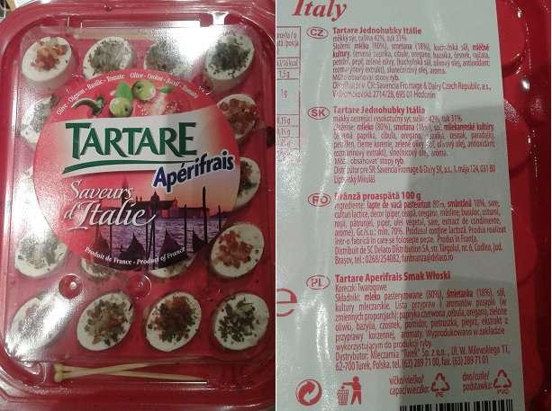 Koreczki twarogowe włoskie Tartare