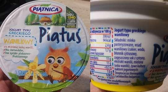 Piątuś jogurt waniliowy Piątnica