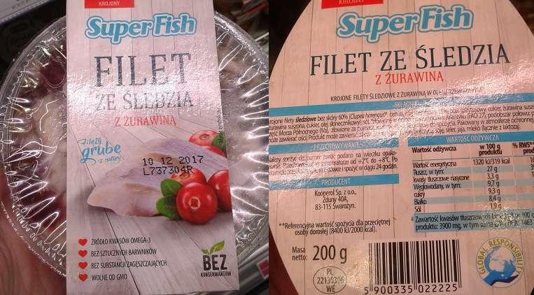 Filet ze śledzia z żurawiną SuperFish