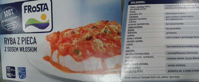 Ryba z pieca z sosem włoskim FRoSTA