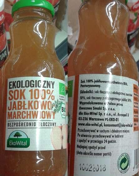 Sok jabłkowo-marchwiowy EkoWital