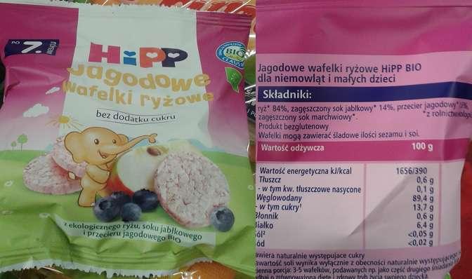 Jagodowe wafelki ryżowe HiPP