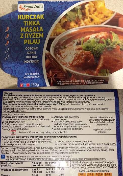 Kurczak Tikka masala z ryżem pilau Smak Indii