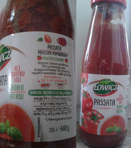 Passata pomidorowa Łowicz