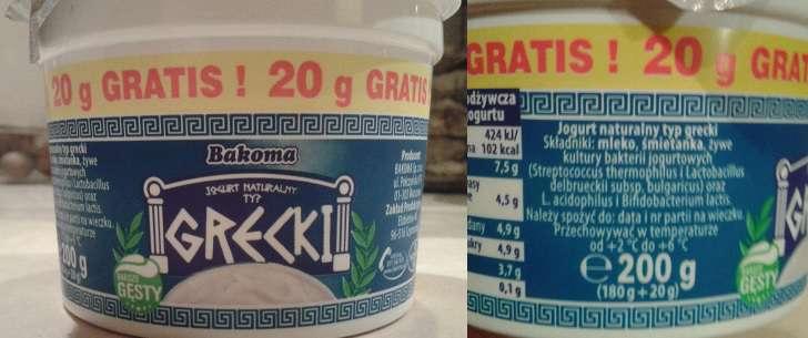Jogurt grecki Bakoma