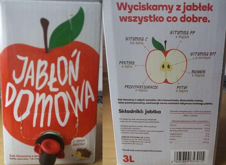 Sok tłoczony Jabłoń Domowa