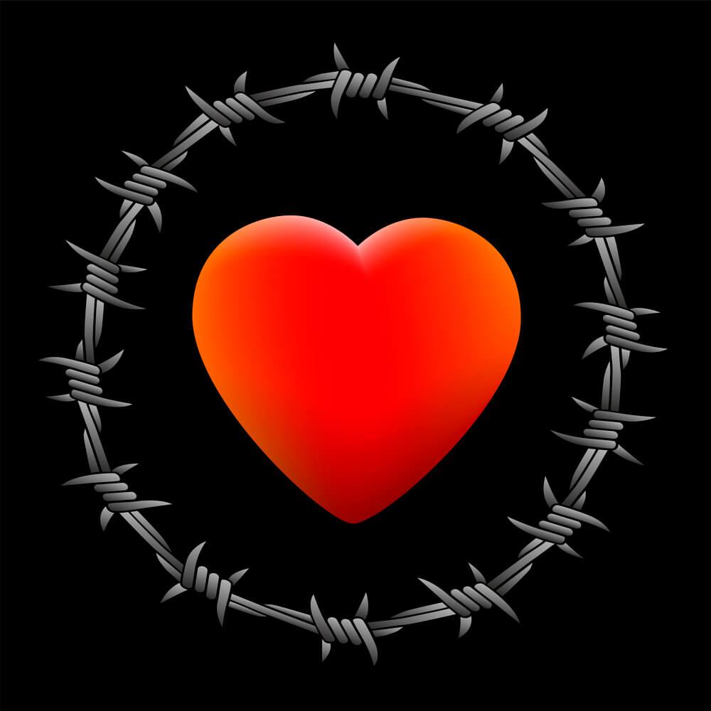 serce drut kolczasty